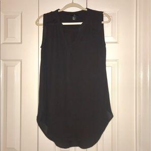 H&M Sheer Black Sleeveless Tunic